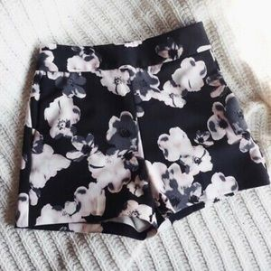 Women's high waisted floral shorts